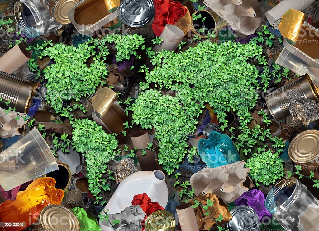 Recycle Trash And The Environment stock photo