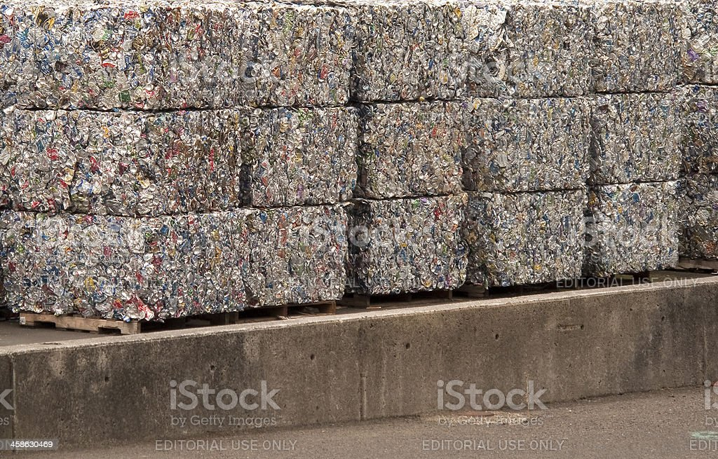 Recycled Aluminum Cans stock photo