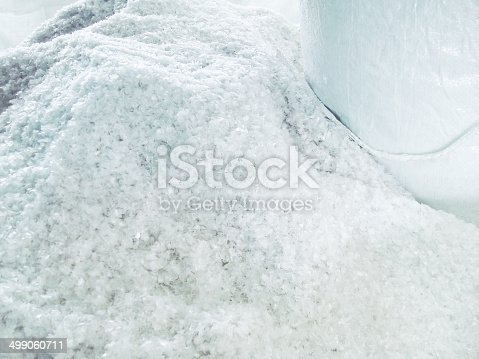 istock Recycled and Crushed Plastic for Polycarbonate Sheet Production 499060711