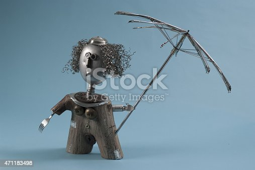 istock Recycled Art Woman With Umbrella 471183498