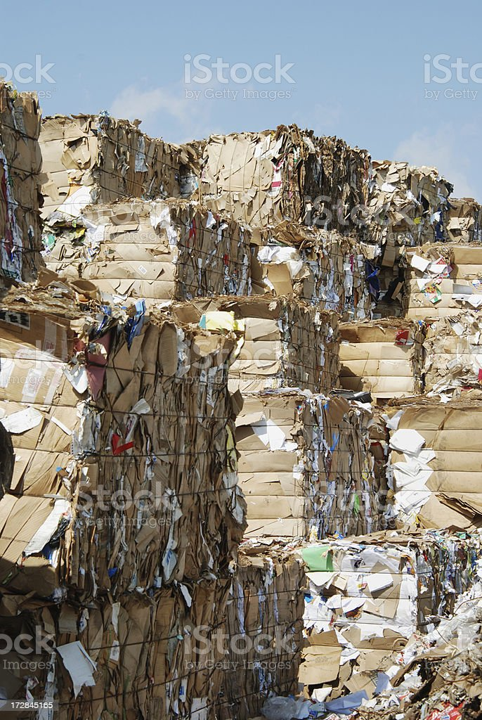 Recycled cardboard box royalty-free stock photo