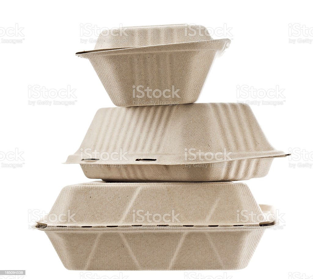 Recycled Containers To Go stock photo