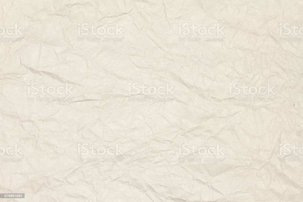 Recycled crumpled light brown paper texture or paper background. stock photo
