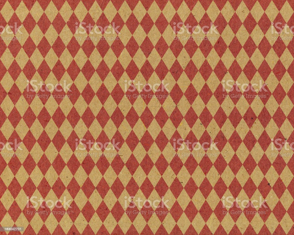 recycled diamond pattern paper royalty-free stock photo