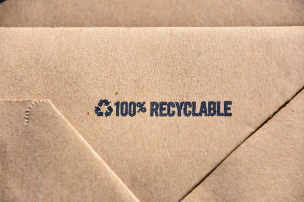 Recycling-Papiertüte – Foto
