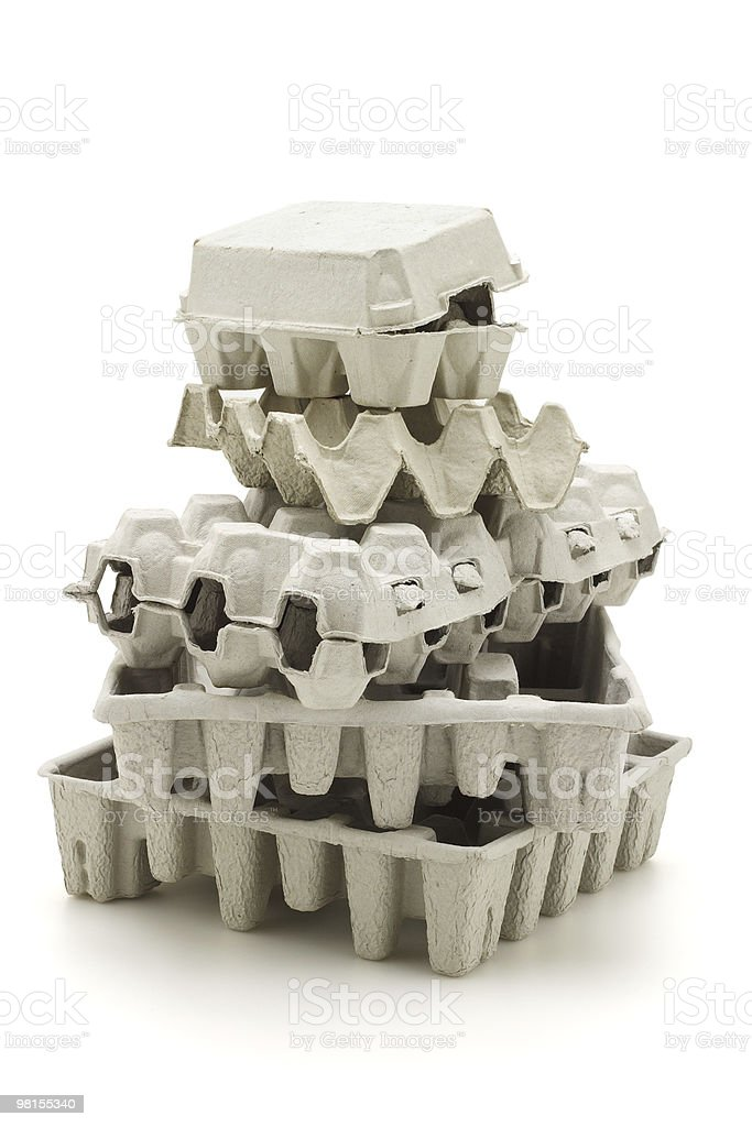 Recycled paper carton royalty-free stock photo