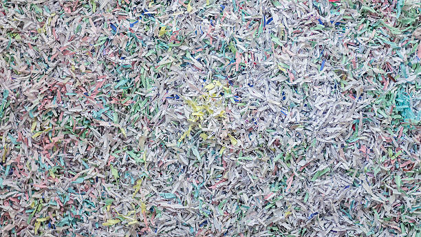 recycled paper - shredded paper stock photos and pictures