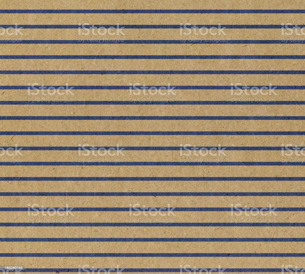 recycled paper with blue stripes stock photo