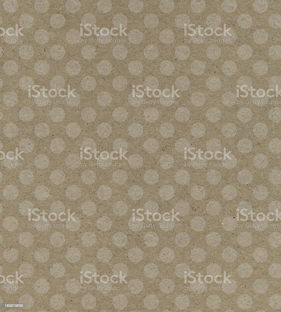 recycled paper with dot pattern royalty-free stock photo