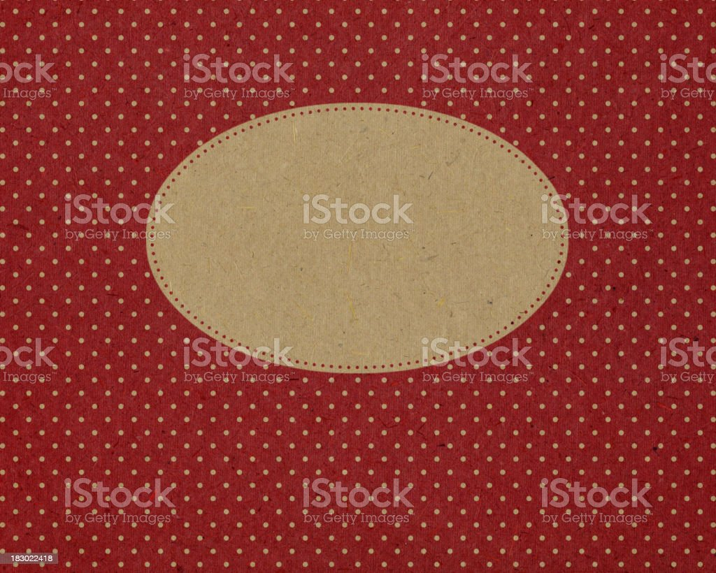 recycled paper with oval frame royalty-free stock photo