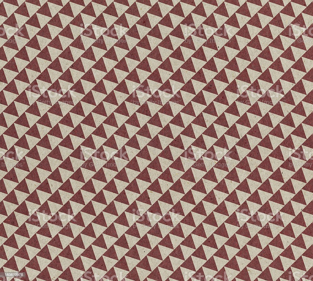 recycled paper with red triangle pattern royalty-free stock photo