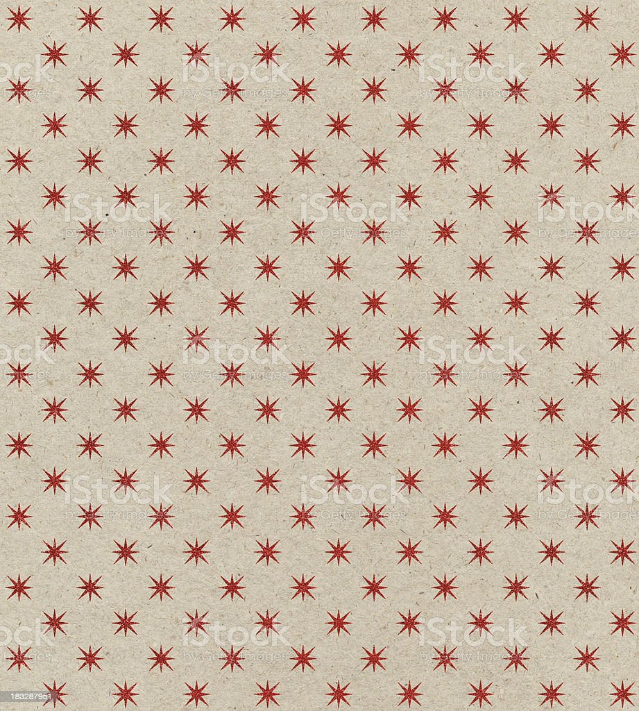 recycled paper with star pattern royalty-free stock photo