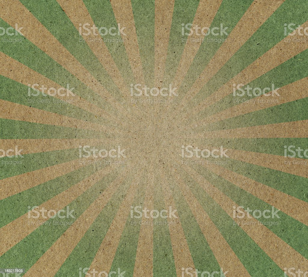 recycled paper with sunbeam pattern royalty-free stock photo