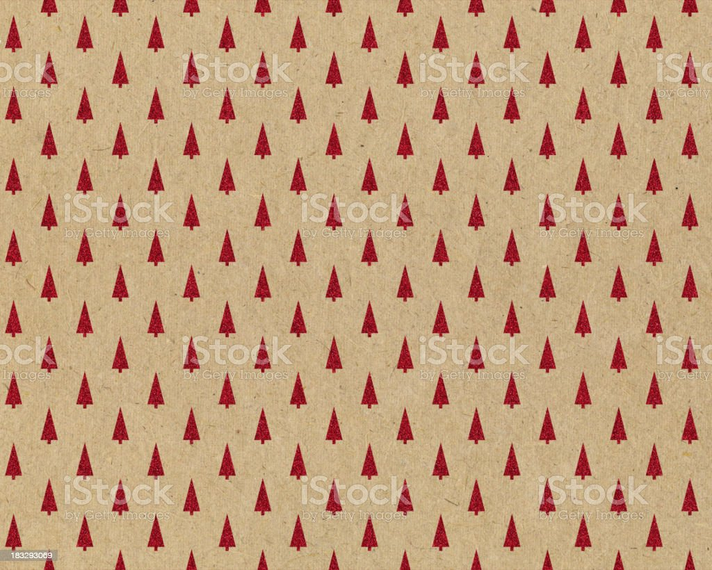 recycled paper with tree pattern stock photo