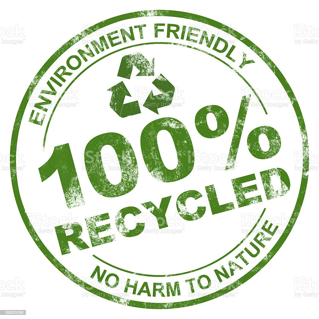 100% Recycled stock photo