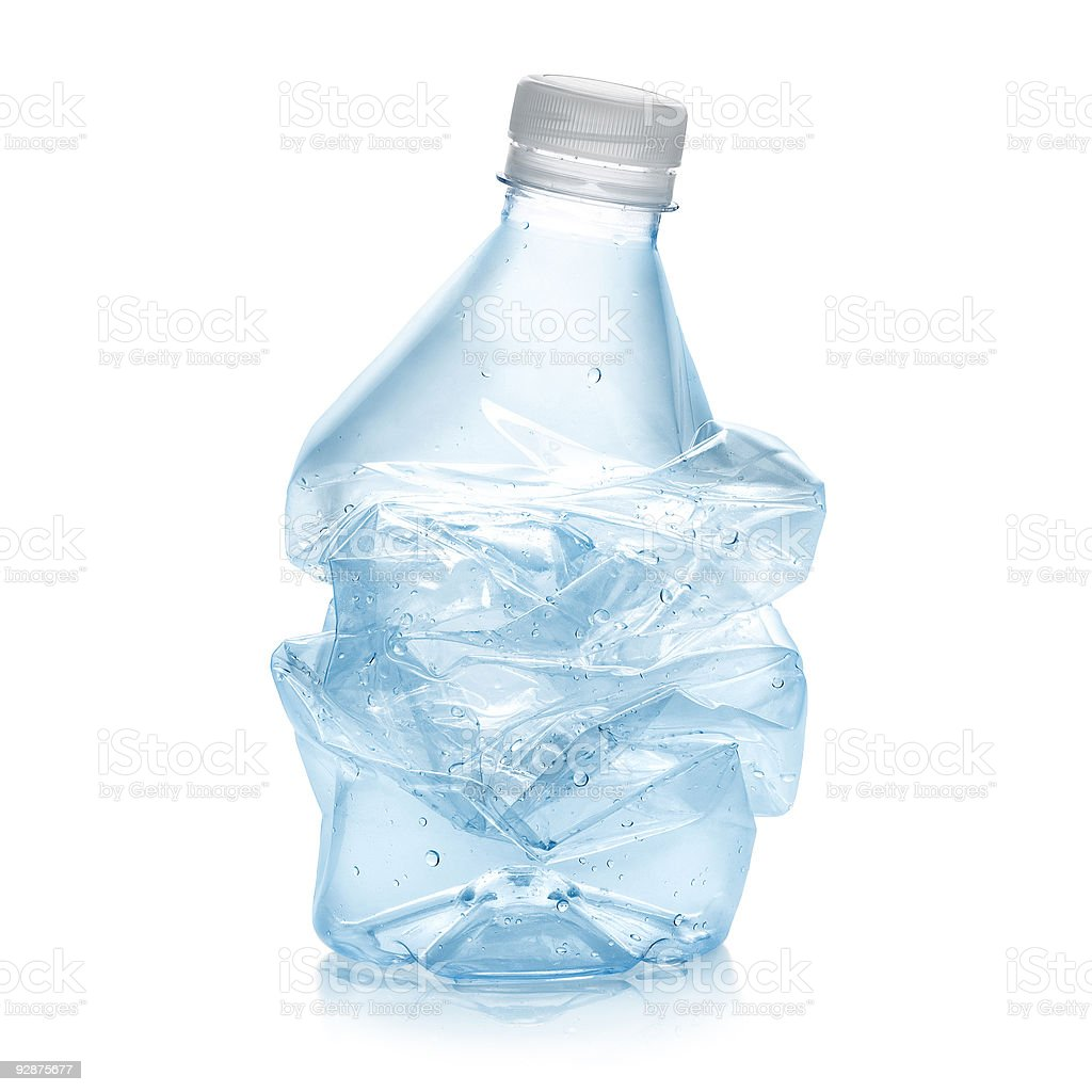 Recycled plastic bottle stock photo