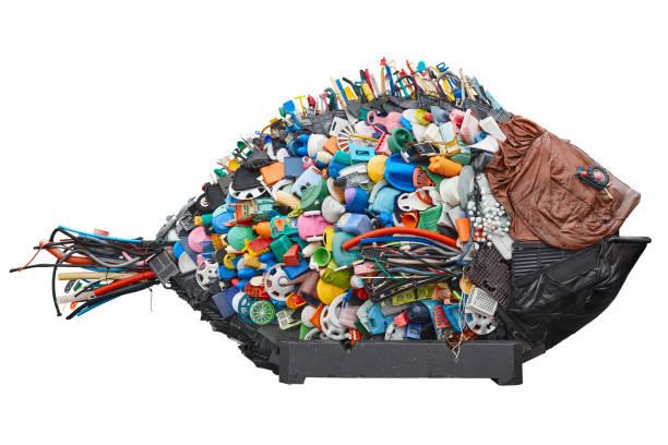 Recycelter Kunststoffabfall. Umweltverschmutzung Müll. Rette den Planeten – Foto