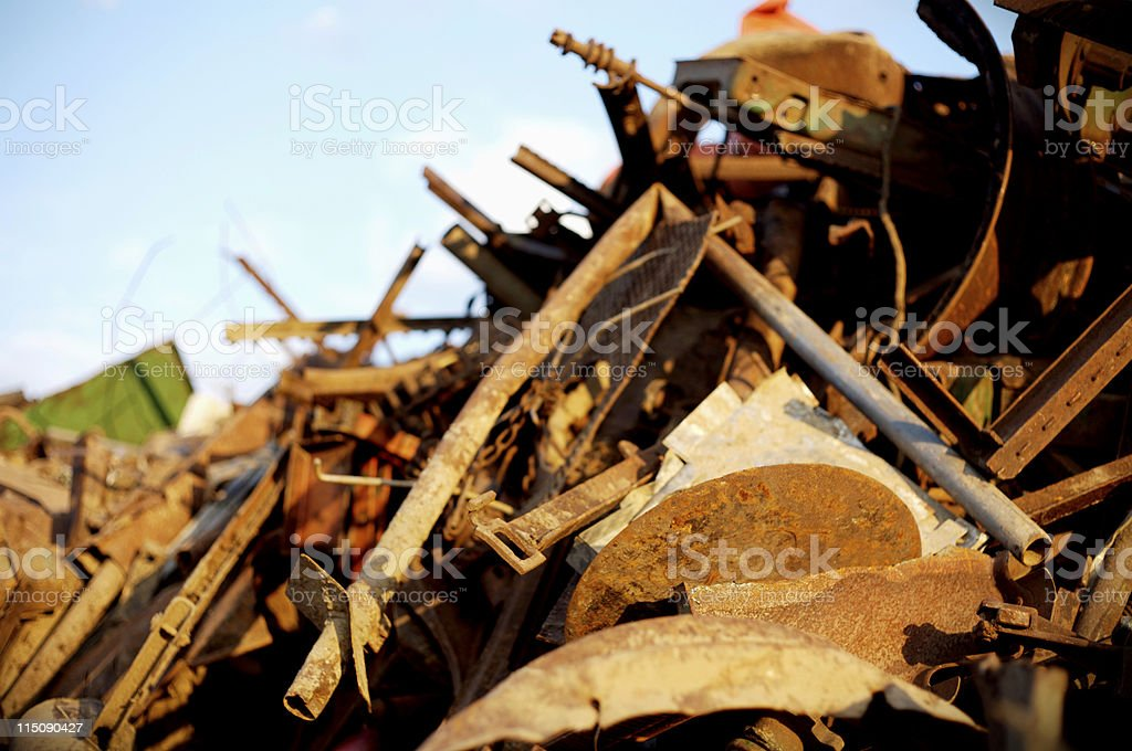 recycled rubbish dump royalty-free stock photo