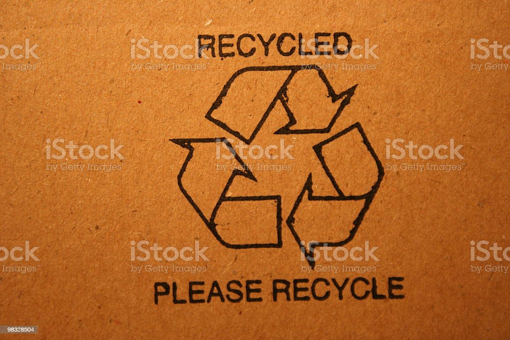 Recycled stamp royalty-free stock photo