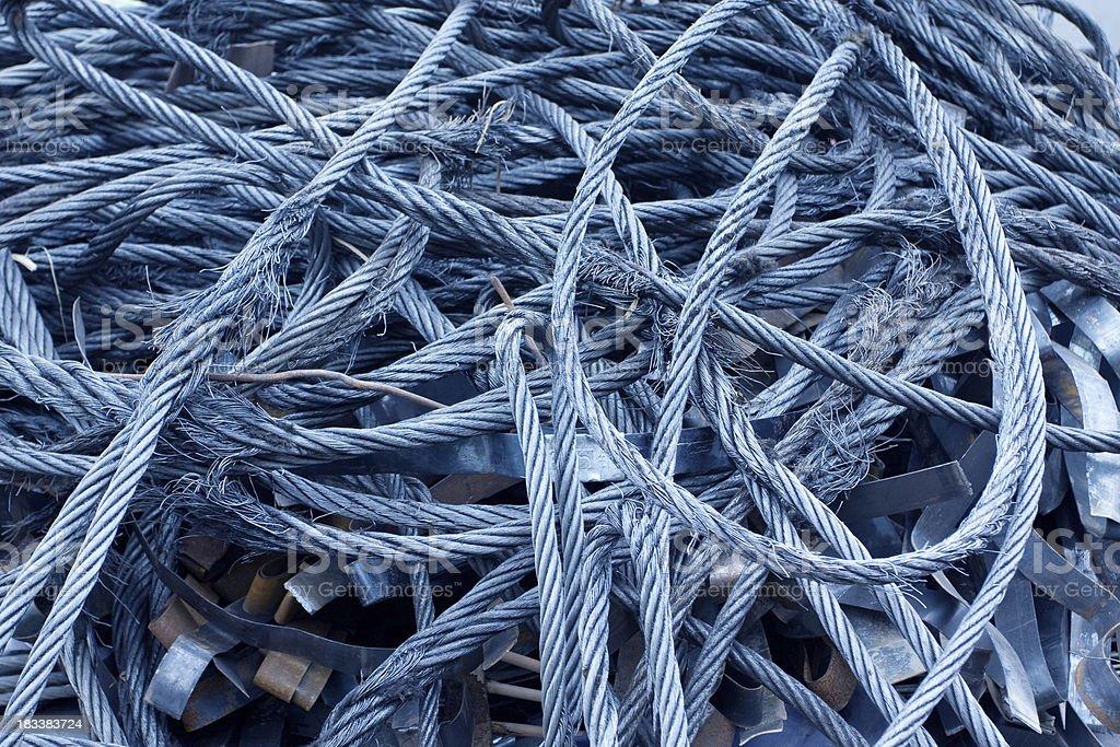 Recycled steel rope royalty-free stock photo