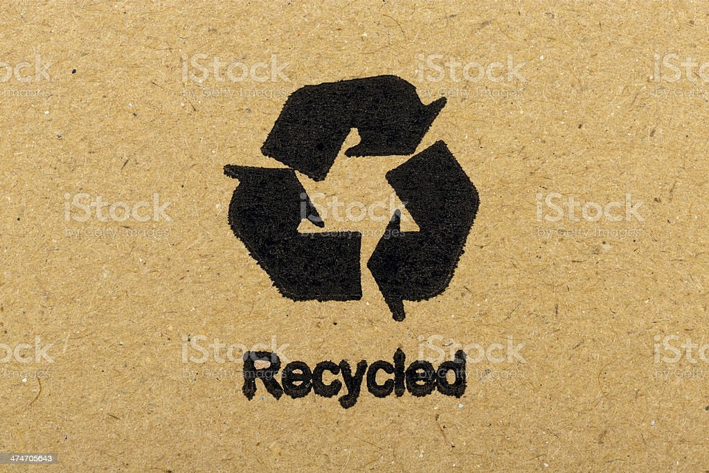 Recycled Symbol royalty-free stock photo