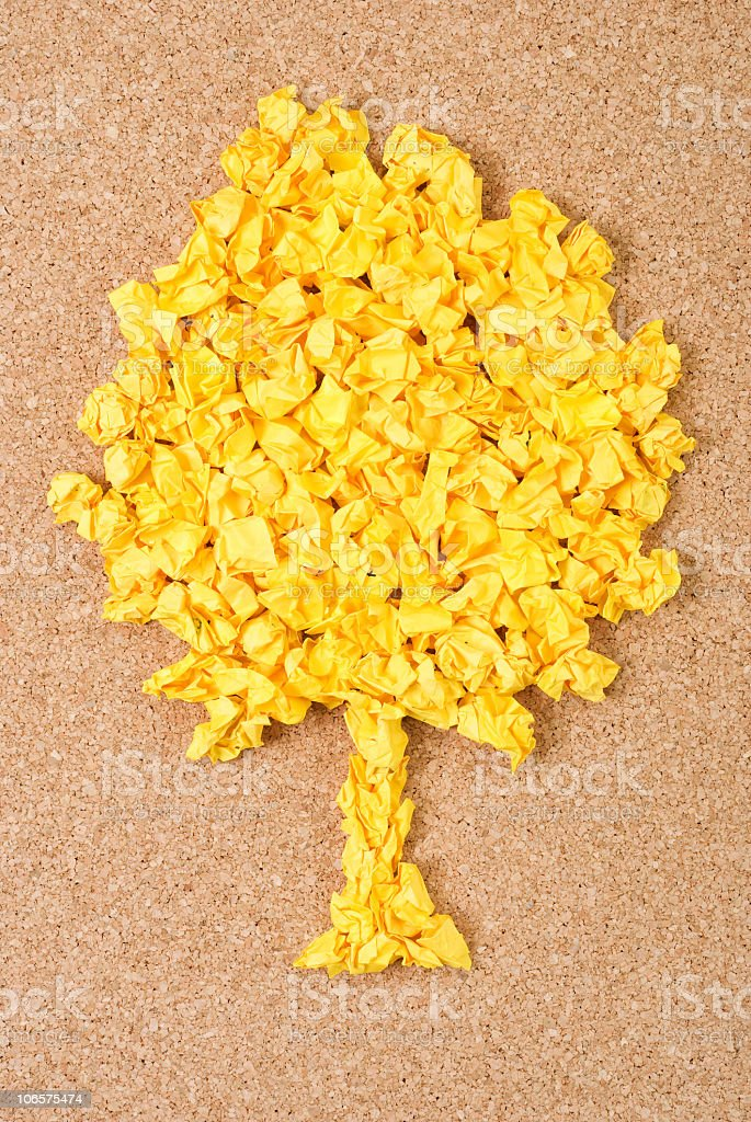 Recycled Tree royalty-free stock photo
