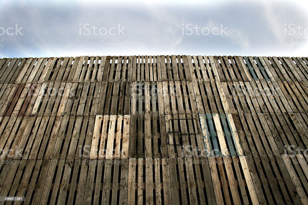 recycled wall stock photo