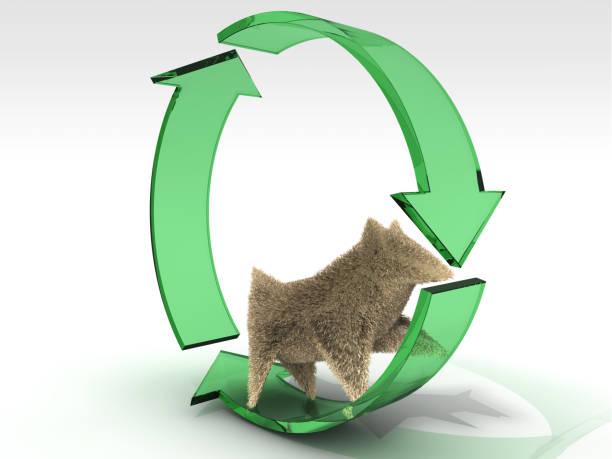 recycling und natürliches leben - maus comic stock-fotos und bilder