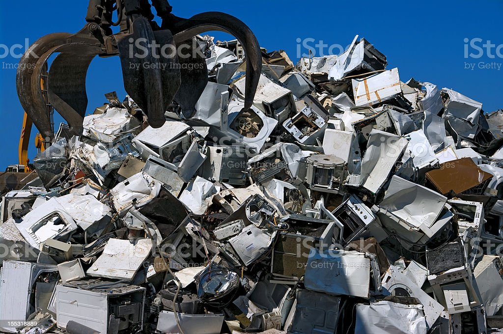 Recycling appliances stock photo