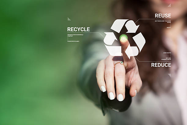 Recycling awareness. stock photo