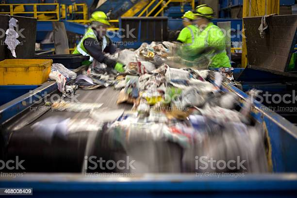 Recycling Belt Stock Photo - Download Image Now