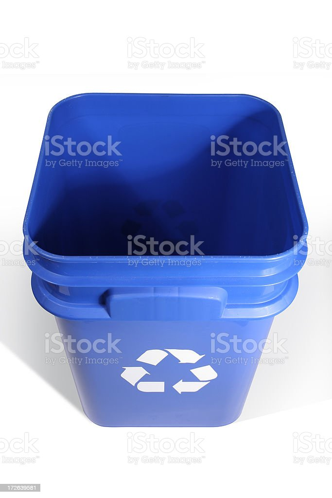 Recycling bin - clipping path royalty-free stock photo