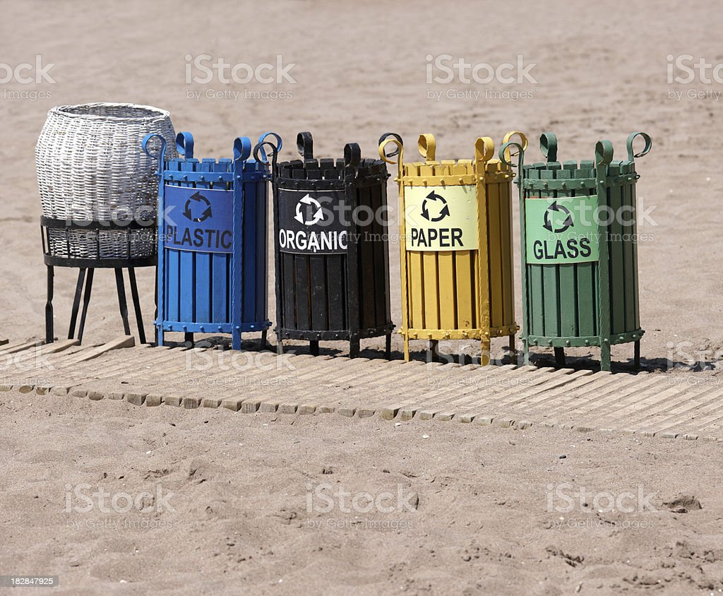 recycling bin, garbage can royalty-free stock photo