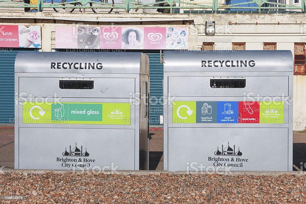 recycling bins royalty-free stock photo