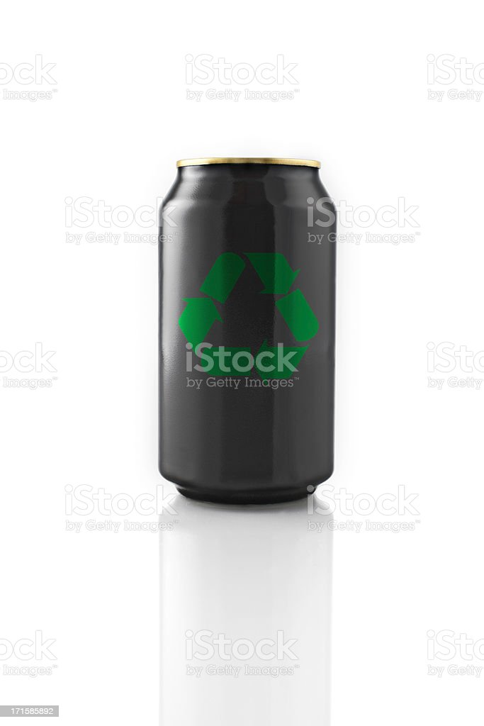 Recycling Black Can stock photo