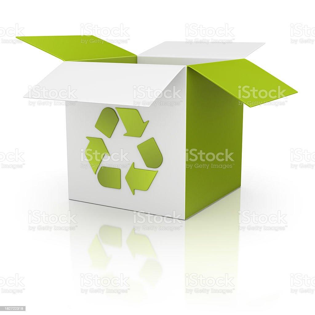 recycling box royalty-free stock photo