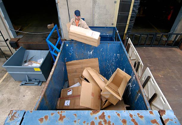 Recycling von Karton Kartons – Foto