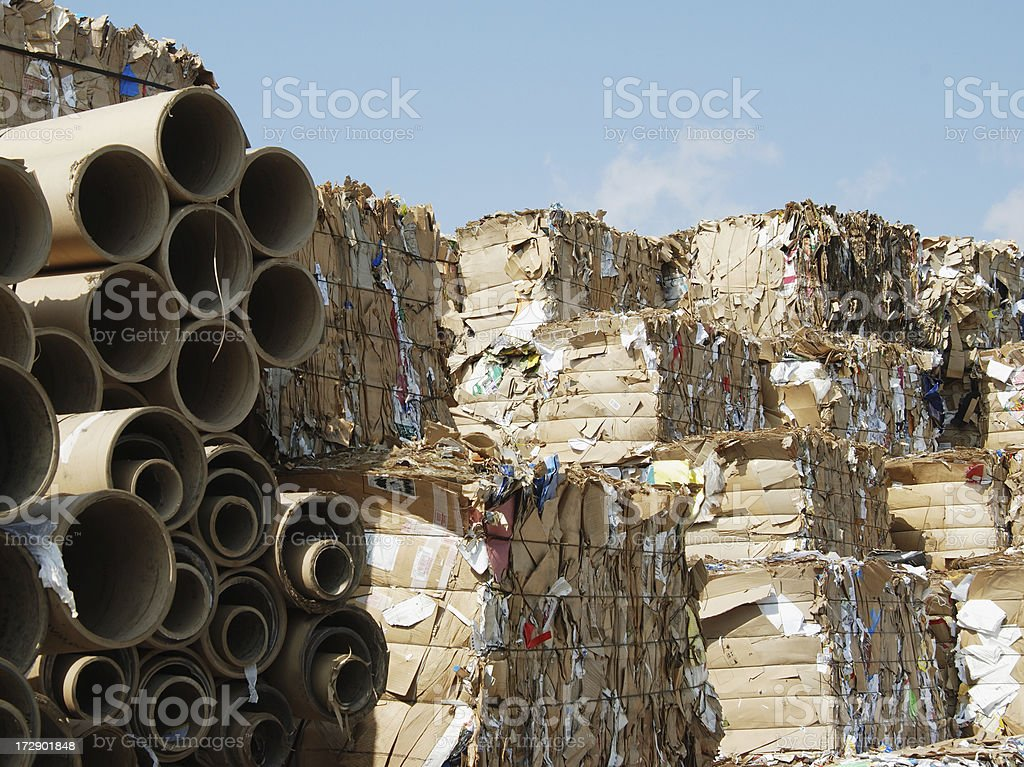 Recycling cardboard royalty-free stock photo