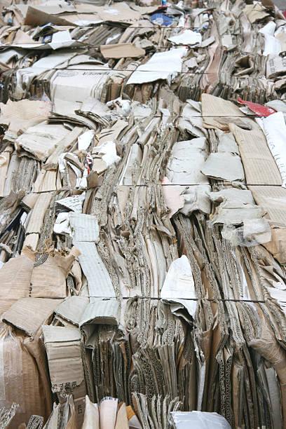 Recycling cardboard stock photo