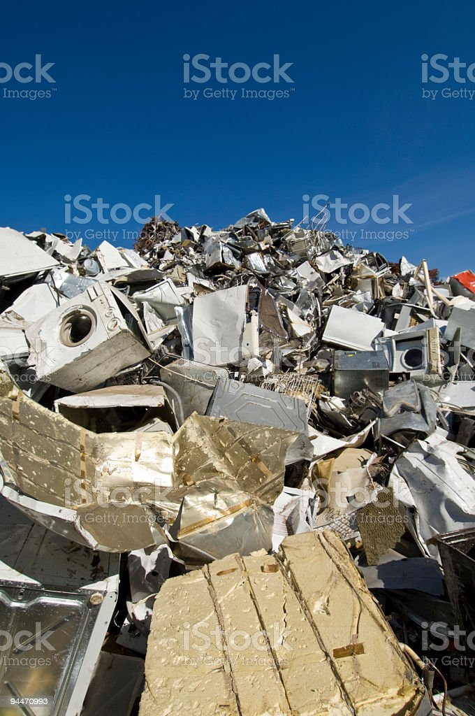 Recycling Center for White Goods stock photo