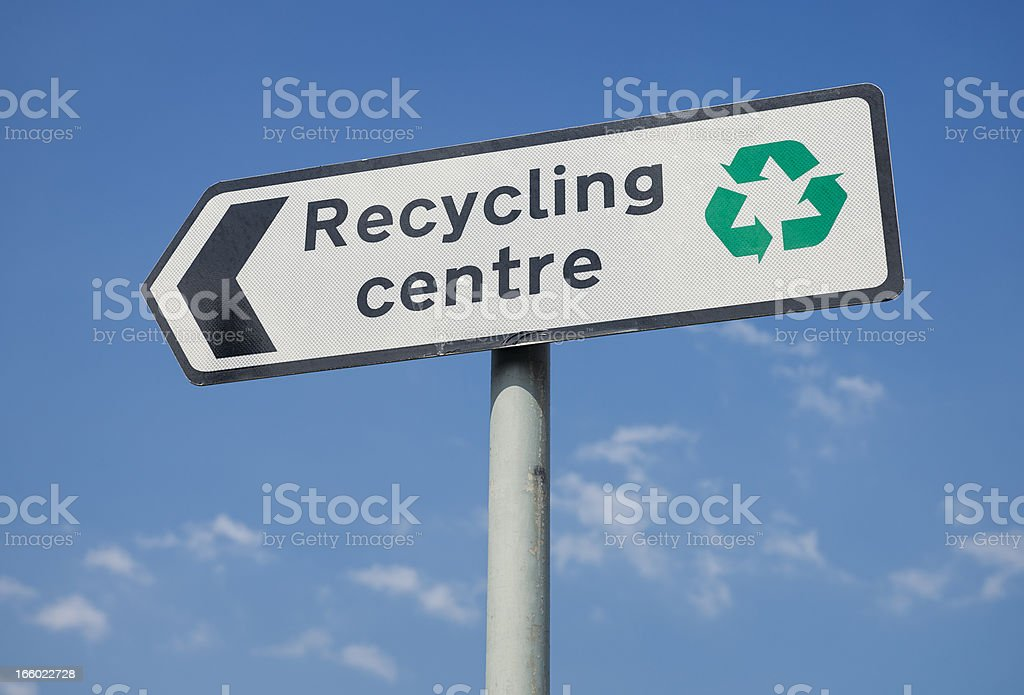 Recycling Centre Sign stock photo