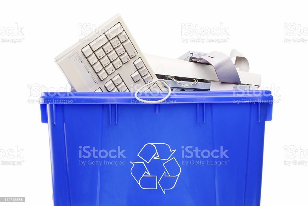 Recycling computer parts royalty-free stock photo