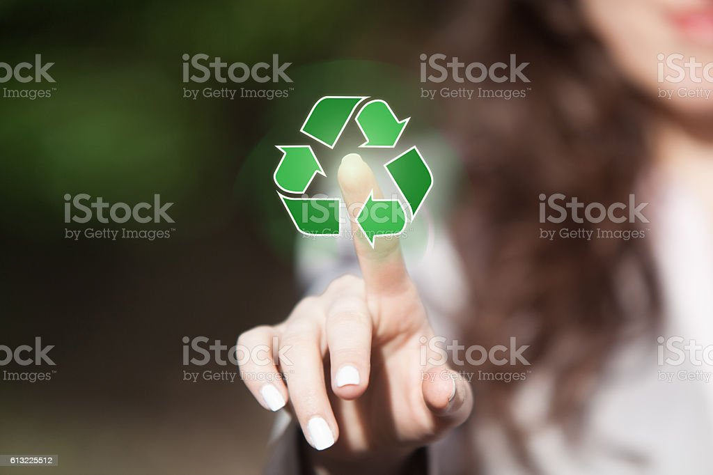 Recycling concept. stock photo