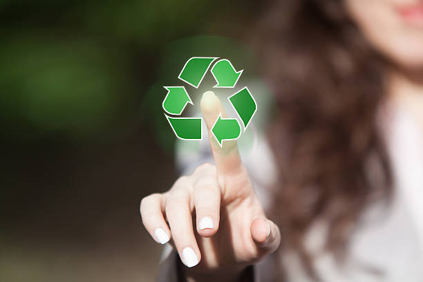 recycling concept. - recycling symbol stock photos and pictures