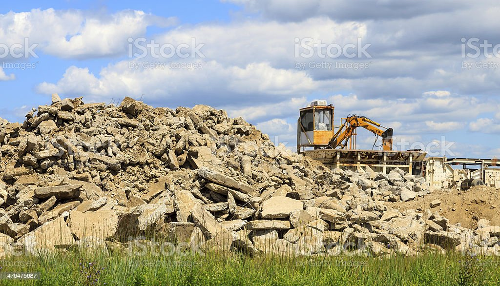 Recycling Concrete royalty-free stock photo
