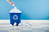 istock Recycling Container With Crumpled Paper 118117987