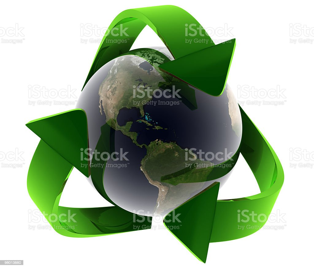 Recycling Earth royalty-free stock photo