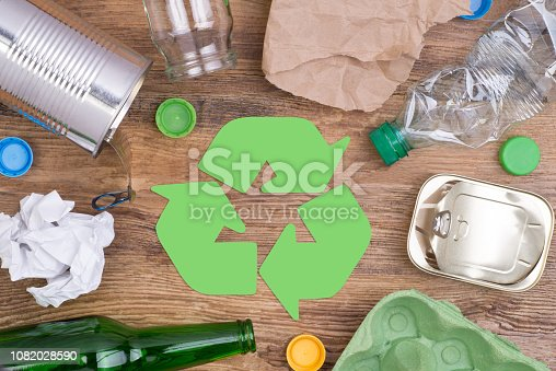 Recycling garbage such as glass, plastic, metal and paper