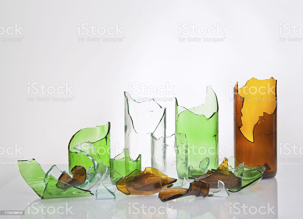 Recycling glass stock photo