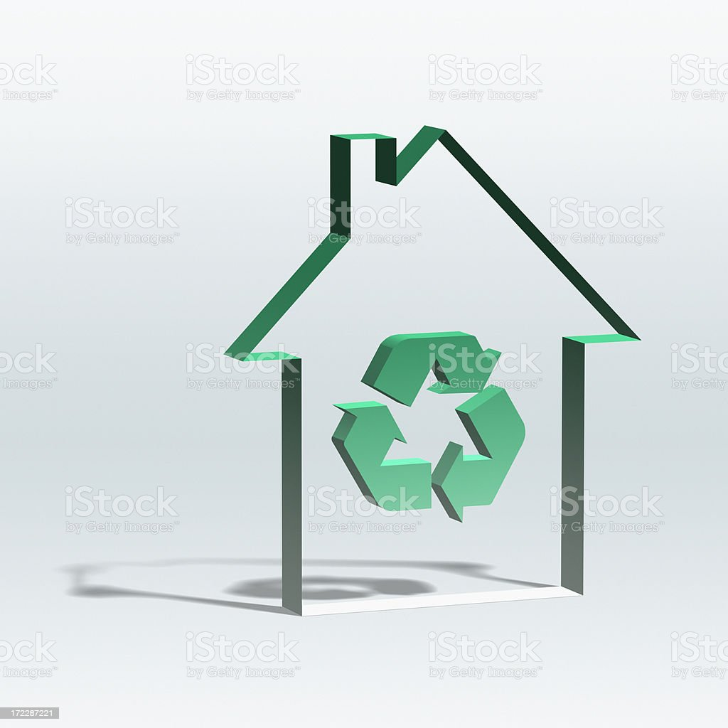 Recycling House XL royalty-free stock photo